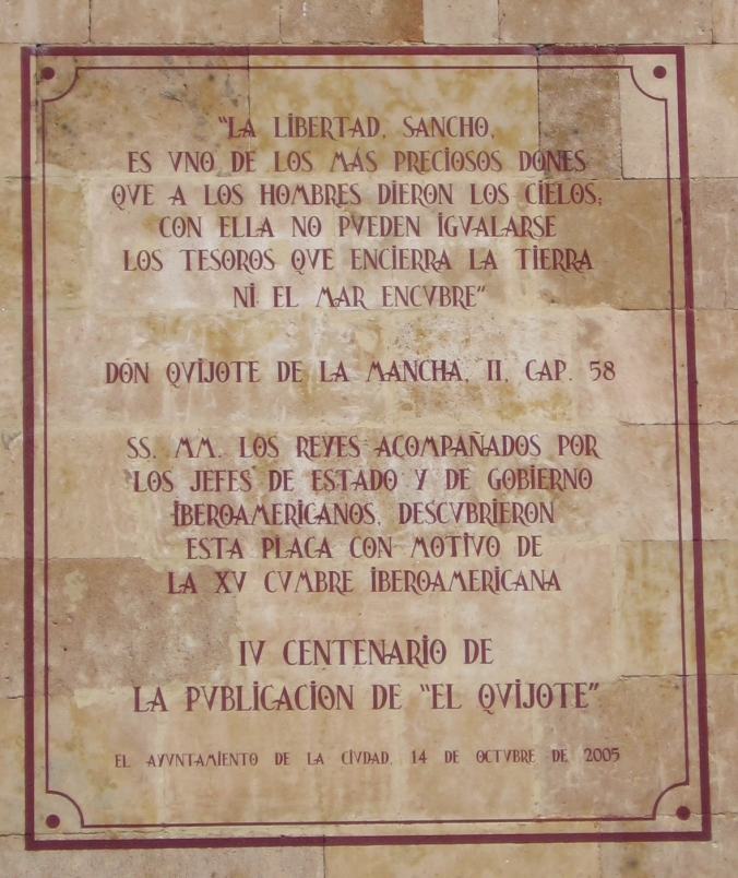 Cervantes quote Libertad